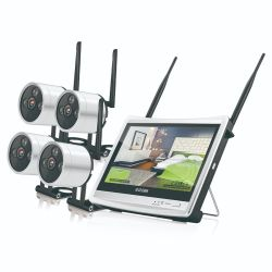 Mini Cámara de seguridad CCTV 4CH Kit cámara inalámbrica con receptor de monitor
