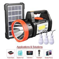 3W LED 전구 3개가 있는 태양광 홈 조명 시스템 라디오 뮤직 플레이어가 있는 3개의 객실