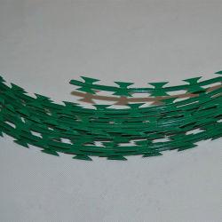 Yq fio navalha com revestimento de PVC de arame farpado-acordeão