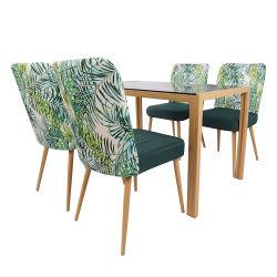가구 식사 테이블 Foshan 열전달 다리 테이블 베이스 모던 4인승 유리 식탁