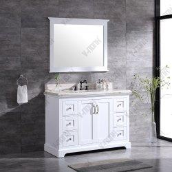 """48"""" одной цельной древесины на прилавке в ванной комнате шкафы для хранения"""