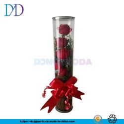 Kundenspezifischer transparenter Zylinder-Kasten-Plastikzylinder runde verpackenbelüftung-runder Zylinder-Eisen-Deckel-runde Dose