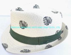 Оптовая торговля шапки соломы бумаги шапки для детей с животными печать