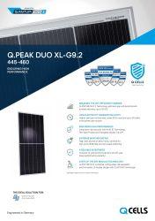 トップブランド太陽エネルギーパネル Qcells ベトナム PV モジュール単結晶 PERC ハーフセル 445W 450W 455W 460W フルブラックカナダ仕様 Trinasolar 12bb Technology