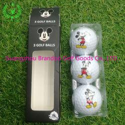 Três Camadas Torneio Surlyn personalizados bola de golfe loja de golfe