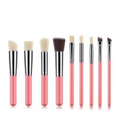 美のための安い価格9PCSのピンクの構成のブラシのツール