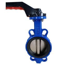 Рукоятка рычага промышленности КЕ/Di/углеродистая сталь PTFE EPDM сидит вафельной двухстворчатый клапан обратный клапан электромагнитный клапан запорный клапан ножа