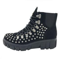 새로운 디자인 주문 숙녀 중앙 높은 우연한 신발 가죽 시동 (YT1912-10)