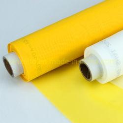 De poliéster monofilamento Serigrafia tecido de malha 165t-31µ/420mesh, PW, Cor Amarelo e Branco