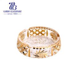 Duim van het Eind van de Gift van de bevordering galvaniseert de Hoge Decoratieve 6 het Gouden Asbakje van de Sigaar van het Glas (GB2040ET/D)