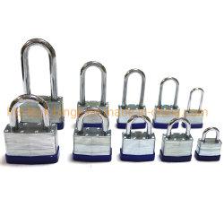 Laminados de aço cadeado para estilo americano resistentes à corrosão Master Impermeável Almofada de ferro com bloqueio de curto ou longo Cadeado binóculo