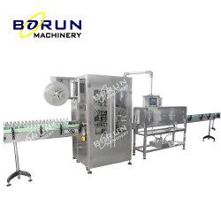 Manchon rétractable automatique de l'impression de l'étiquetage de la machine et machine de remplissage bouteille manchon rétractable d'étiquetage Étiquette rétractable du cou de la machine