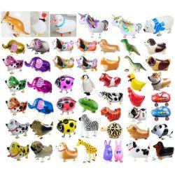 Venta caliente Varios forma caminar los animales de compañía de globos (aire andadores juguetes, el gas de helio Globos de animales de compañía Walker, caminando de la lámina de Pet de globos de Mylar)