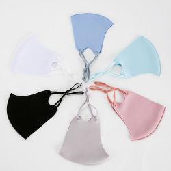 Mayorista de esponja de moda personalizada marca el logotipo de la reutilización de algodón negro Maskes diseño