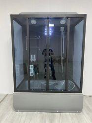 Salle de douche à vapeur verre gris cabine de douche