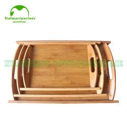 إفطار طبيعي مخصص من قبل OEM الخيزران يقدم صينية خشبية