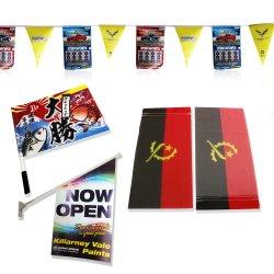 Publicidade ao ar livre impressão frente e verso em frente e verso poliéster Banner Texile Entrega de Bandeira Nacional personalizada de fábrica 3X5 num prazo de 48 horas