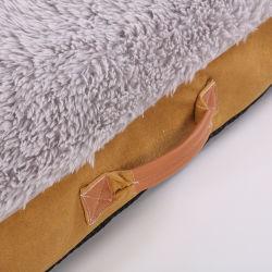 Todos los tamaños de lujo único perro gato la cama con colchón