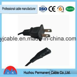 UL стандартный американский удлинительный провод 2-контактный кабель питания переменного тока с помощью пробки для мужчин и женщин