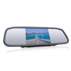Grand Prix de rétroviseur avec tableau de bord de la came de 4,3 pouces pour les véhicules avant et à l'écran LCD du miroir de rétroviseur Voiture DVR de caméra de tableau de bord