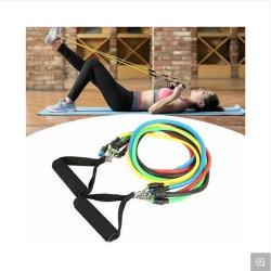 Energie versieht Latex-Widerstand-Band des Muskel-Prüfsystem-Latex-Gefäß-11PCS mit Haken-flexibler Schaumgummi-Rohrleitung mit einem Band