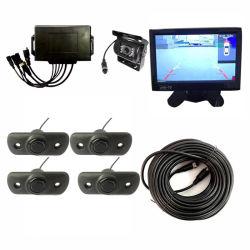 映像の駐車センサーのトラックの夜間視界の背面図のカメラOSD映像