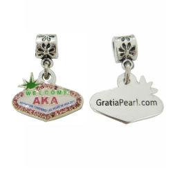 Hermoso hecho personalizado mayorista de joyas de Metal Logo encanto encanto terminales (14)