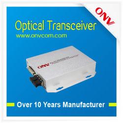 Emetteur-récepteur optique DVI - DVI émetteur et récepteur. 1CH de données et de 1CH AUDIO. Le Mode simple Fibre unique (ONVT/RDVI1D1A-S)