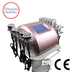 Professional 6 в 1 ультразвукового RF кавитации Lipolaser похудение машины