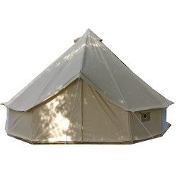 Impermeable al aire libre Camping familiar y el invierno Glamping lienzo de algodón Yurt Bell Tienda con puertas y ventanas de la pantalla de mosquitos Esg13888