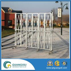 Porte de pliage en aluminium avec roulettes