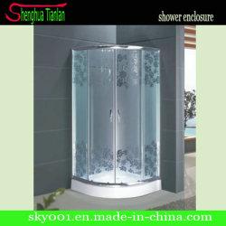 Квадрант окрашенные закаленное стекловолоконные Enslosured душ двери (TL-527)
