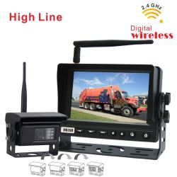 Беспроводная камера наблюдения за системой для грузовиков и Trailors с 2,4 цифровой приемник радиомикрофона