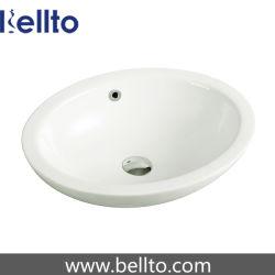 بيضويّة بيضاء خزفيّة يدوية غسل بالوعة لأنّ غرفة حمّام (3003)