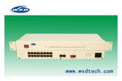 16 Voz del canal FXO/FXS sobre fibra multiplexor PCM +1-2*Ethernet de 100m