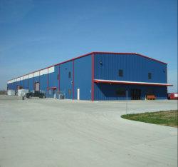 Costruzione chiara prefabbricata all'ingrosso del magazzino della struttura della lamiera di acciaio dell'impianto industriale