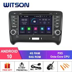 راديو السيارة Wittson Quad-Core Android 10 من شركة Audi tt 2006-2014 وظيفة الفحص الذاتي المدمجة