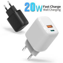 20W クイックバルク Apple 充電器 USB QC3.0 Type-C PD Fast 充電 EU US 英国プラグアダプタ壁面携帯電話充電器 iPhone Samsung の場合