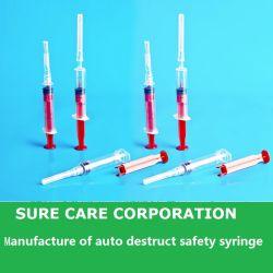 Segurança de destruição automática seringa descartável