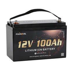 Polinovel 12V 100Ah литиевые батареи для отдыха с поддержкой беспроводной связи Bluetooth или мониторинга для лодки водные лыжи применение двигателя используется