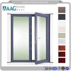 Économies d'énergie Heavy Duty Fenêtre profil en aluminium à double vitrage et de bonne qualité du matériel et accessoire