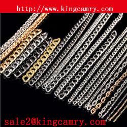 Cadena de cuentas de metal Cadena de cadenas Cadenas de acero Cadenas decorativas