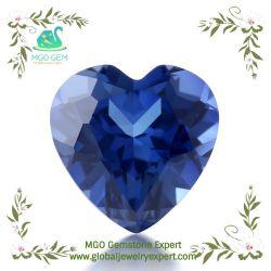 Оптовая торговля лаборатории созданы корунд площадь сердца Принцессы вырезать синтетических синий сапфир с природными Excenllent резки