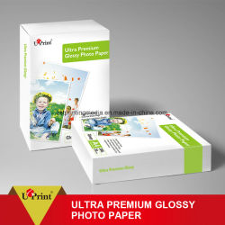 Impressora de jacto de tinta ultra brilhante Premium e rolo de papel fotográfico brilhante folhas/ Papel fotográfico para jato de tinta fosco