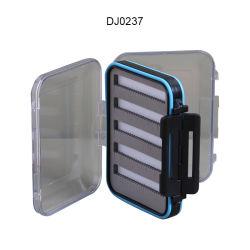 Casella di pesca impermeabile trasparente della mosca della casella di attrezzatura di pesca della mosca