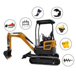 Optionales Zubehör Für Bagger 0,8 Ton 1 Ton 1,2 Ton 2 Tonne kleine Digger Hydraulischer Eimer Crawler Mini Bagger mit CE/EPA/Euro 5 Motor