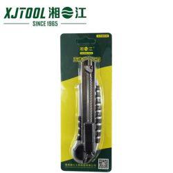 工場供給のHandtool 18mmの安全箱のカッターのナイフまたはユーティリティカッターのナイフの組み込み5の刃