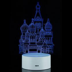 3D Nachtlichter der Illusion-LED, Kirche-Schreibtisch-Lampe, 7 Farben-Lampen-Geschenke, 3D LED Sichtnachtlichter
