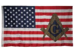 Luxe de haute qualité de longue durée de 3X5FT personnalisé brodé en nylon 210d'Amérique Stars bandes cousues USA drapeau national américain