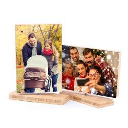 Горячая продажа бамбук повернуть фотографию рамку панели бамбук фото ремесла